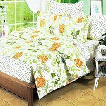 Summer Leaf, 100% Cotton 4PC Duvet Cover Set (Full Size)